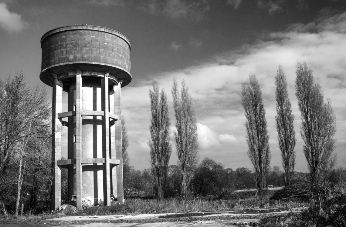 disused water tower near Southport, Lancashire,