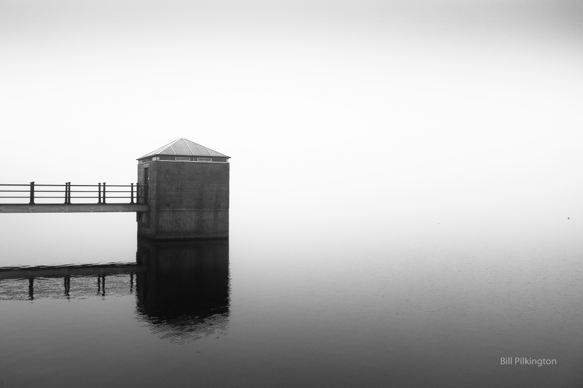 hollingworth lake on a misty morming
